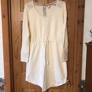 ANTHRO Lucy & Laurel Cream Long Sleeve Dress